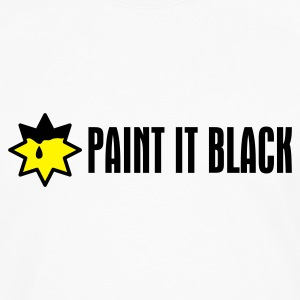 Weiß Paint It Black T-Shirts - Männer Premium Langarmshirt