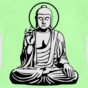 Kelly green Young Buddha No.1_2c Kinder T-Shirts - Baby T-Shirt