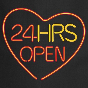 24 hours open love - Förkläde