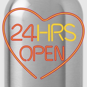 24 hours open love - Trinkflasche