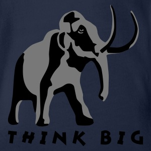 Türkis mammut_2c_think_big Kinder T-Shirts - Baby Bio-Kurzarm-Body