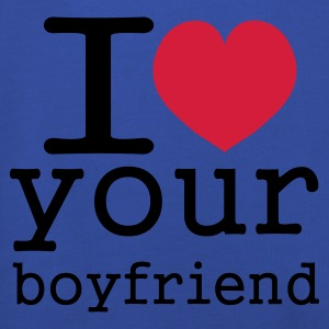 Koningsblauw i love your boy friend T-shirts - Kinderen trui Premium met capuchon