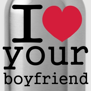 Koningsblauw i love your boy friend T-shirts - Drinkfles