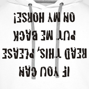 If you can read this, - Männer Premium Hoodie