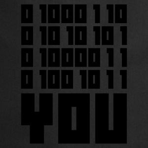 Azul vaquero FUCK YOU - Binary code Camisetas - Delantal de cocina