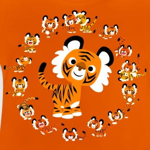 Mandala de Tigres Cartoons 2 par Cheerful Madness! Tee shirts - T-shirt Bébé