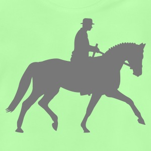 Kelly green Dressage Horse Kids' Shirts - Baby T-Shirt