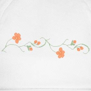 Wit Pixel bluetenranke / flower ornament (ddp) T-shirts - Baseballcap