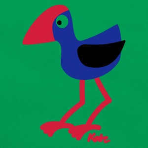 Moss green Pukeko  Men's T-Shirts - Retro Bag