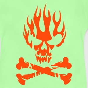 Kelly groen FIRE SKULL Kinder shirts - Baby T-shirt