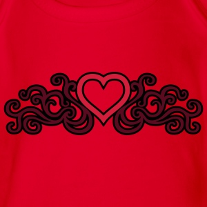 tribal_heart_3c_kontur Shirts - Organic Short-sleeved Baby Bodysuit