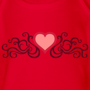 tribal_heart_3c Shirts - Organic Short-sleeved Baby Bodysuit