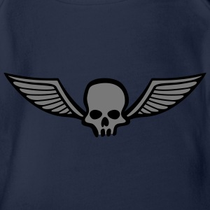 wingskull_comic_2c Shirts - Organic Short-sleeved Baby Bodysuit