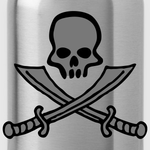 skull_comic_swords_b_2c T-Shirts - Water Bottle