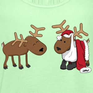 Kelly green reindeer fun Kids' Shirts - Women's Tank Top by Bella