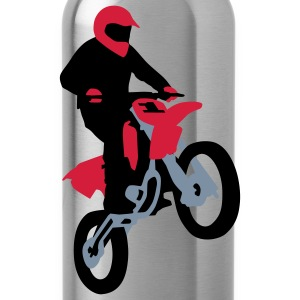 motorbike_stunt_a_3c Shirts - Water Bottle