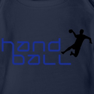 handball_h_2c Shirts - Organic Short-sleeved Baby Bodysuit
