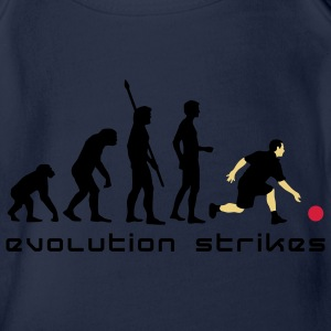 evolution_bowling_player_3c_b Shirts - Organic Short-sleeved Baby Bodysuit