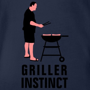 griller_instinct_2c Shirts - Organic Short-sleeved Baby Bodysuit