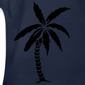 Palm Tree - Summer Kids' Shirts - Organic Short-sleeved Baby Bodysuit