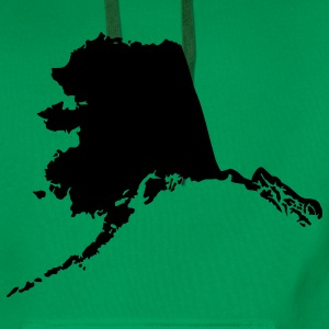 State of Alaska T-Shirts - Men's Premium Hoodie