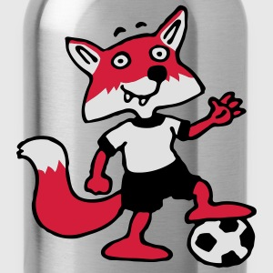 soccer_fox_l_3c Shirts - Water Bottle