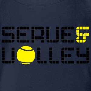 TENNIS: SERVE AND VOLLEY Kinder T-Shirts - Baby Bio-Kurzarm-Body