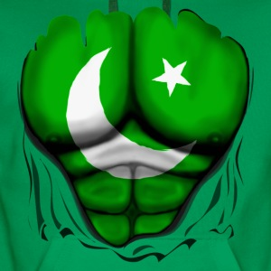 Pakistan Flag Ripped Muscles, six pack, chest t-sh - Men's Premium Hoodie