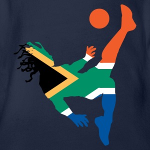 South Africa soccer UK - Organic Short-sleeved Baby Bodysuit