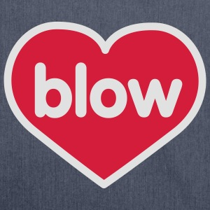Blow | Heart | Love | Liebe | Herz | blasen T-Shirts - Shoulder Bag made from recycled material