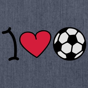 I love football T-shirts - Schoudertas van gerecycled materiaal