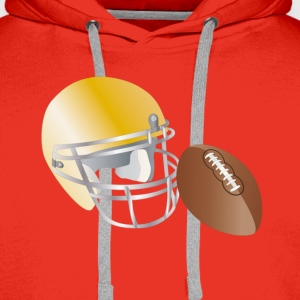 american football Tee shirts - Sweat-shirt à capuche Premium pour hommes