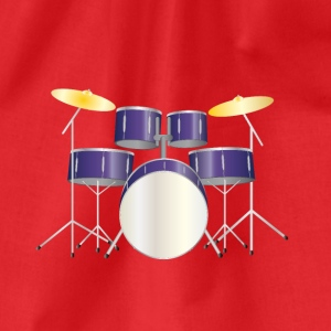 drums purple T-shirts - Gymtas