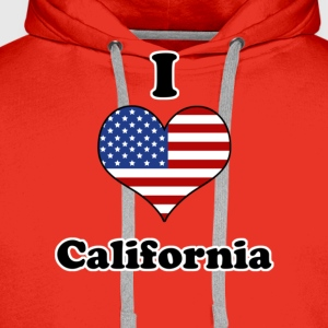 I love California T-skjorter - Premium hettegenser for menn