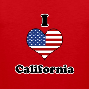 I love California Camisetas - Tank top premium hombre