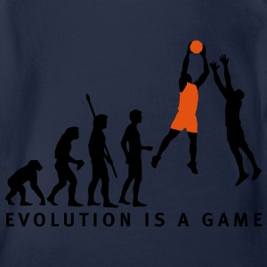 evolution_basketball_072011_d_2c Shirts - Baby bio-rompertje met korte mouwen