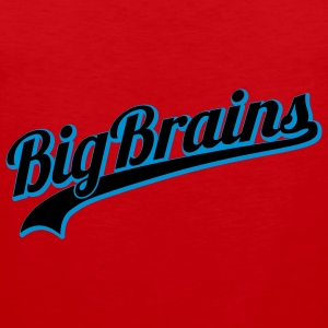 BigBrains | Dicke Titten | Big | Brain T-Shirts - Premium singlet for menn