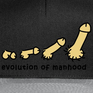 evolution_of_manhood_2c T-shirts - Snapback cap