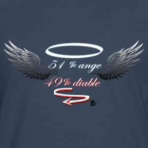 tshirt 51% anges 49% diable by customstyle - T-shirt manches longues Premium Homme