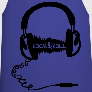 Headphone audio wave motif: Rock & Roll Music  T-Shirts - Cooking Apron