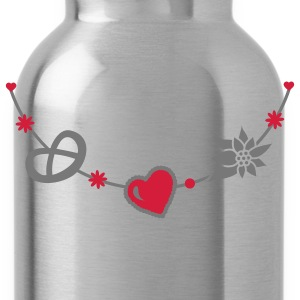 Dirndl jewelry with pretzel, gingerbread heart and Edelweiss Kids' Shirts - Water Bottle