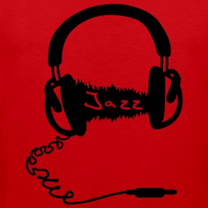 Headphones Kopfhörer Audio Wave Motiv : Jazz Musik Audiophil T-Shirts - Männer Premium Tank Top