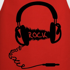 Cuffie audio Motif Wave: ROCK  T-shirt - Grembiule da cucina