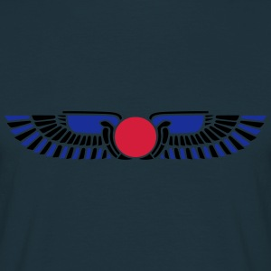 Egypt Sun Disk, Wings, symbol of protection Sweatshirts - Herre-T-shirt
