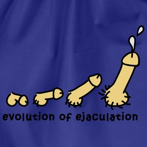 evolution_of_ejaculation_design_3c T-shirts - Gymnastikpåse