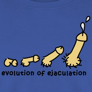 evolution_of_ejaculation_design_3c T-Shirts - Männer Pullover