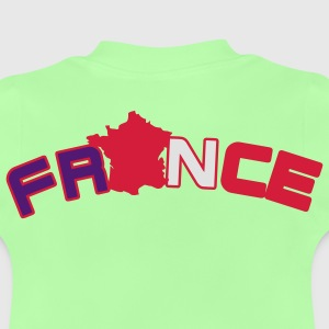 France, Freankreich, flag French flag and map Kids' Shirts - Baby T-Shirt