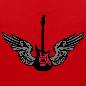 guitar_wings_b_092011_3c Camisetas - Tank top premium hombre