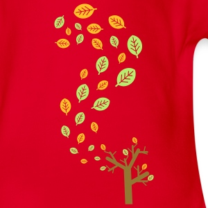 Autumn leaves in the wind - 3 colors Kids' Shirts - Organic Short-sleeved Baby Bodysuit
