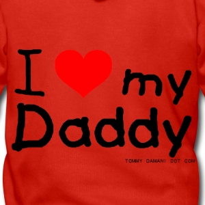 I Love My Daddy Kids' Shirts - Men's Premium Hooded Jacket